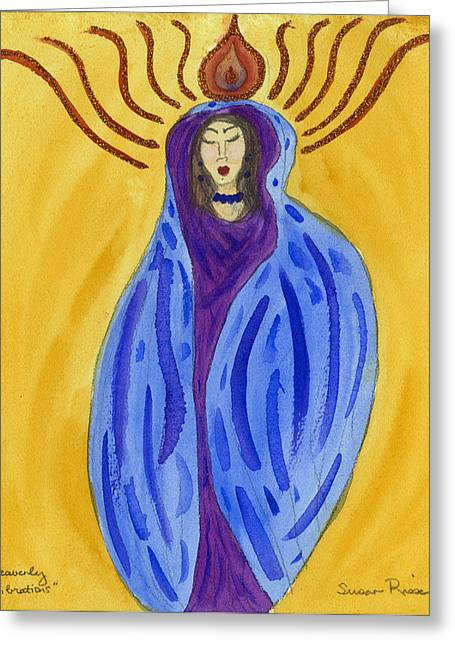 Heavenly Vibrations Greeting Card by Susan Risse