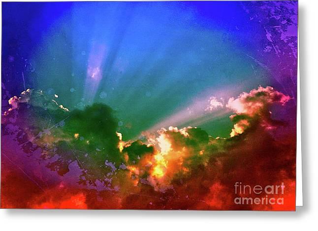 Heaven's Jewels Greeting Card by Kevyn Bashore
