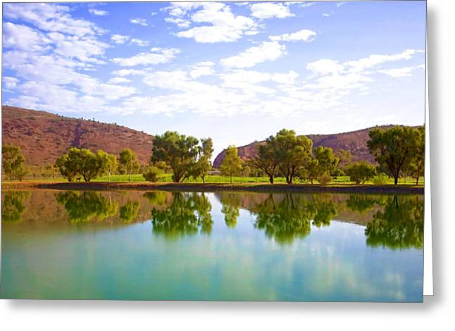 Heavitree Gap Reflected Greeting Card