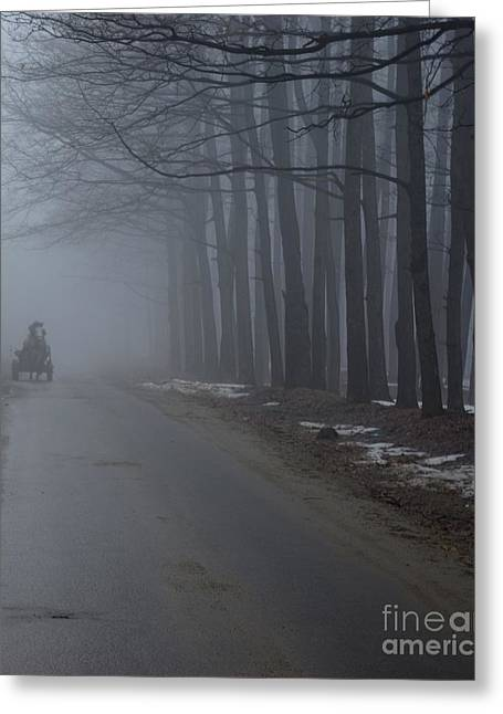 Heavy Foggy Day Greeting Card