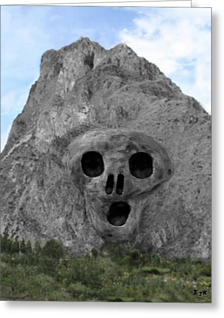 Heavy Rock Scream Greeting Card by Eric Kempson
