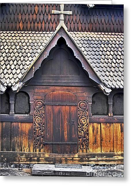Heddal Stave Church Side Entrance Greeting Card