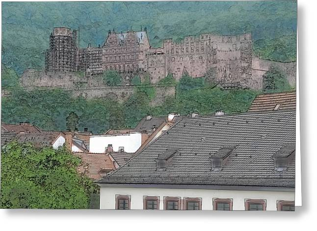 Heidelberg Castle In Germany Greeting Card