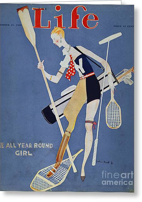 Held: Year Round Girl, 1925 Greeting Card by Granger