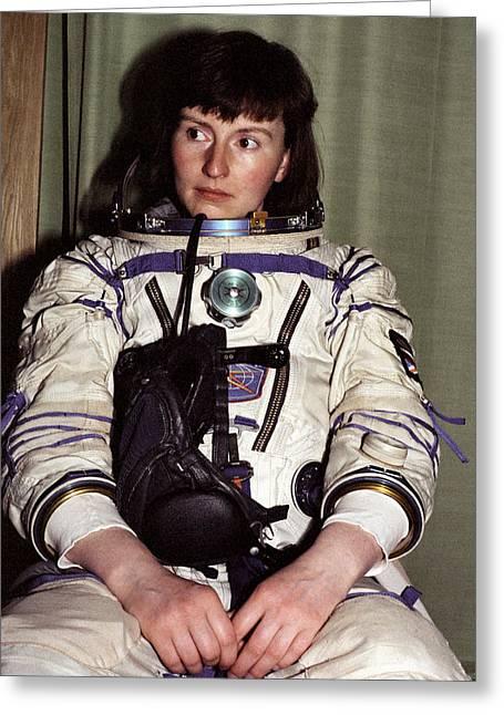 Helen Sharman, British Astronaut Greeting Card by Ria Novosti