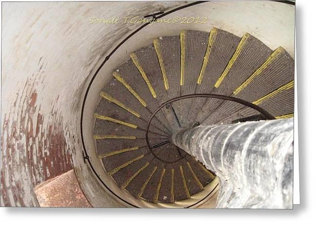 Helical Stairway Greeting Card by Sonali Gangane