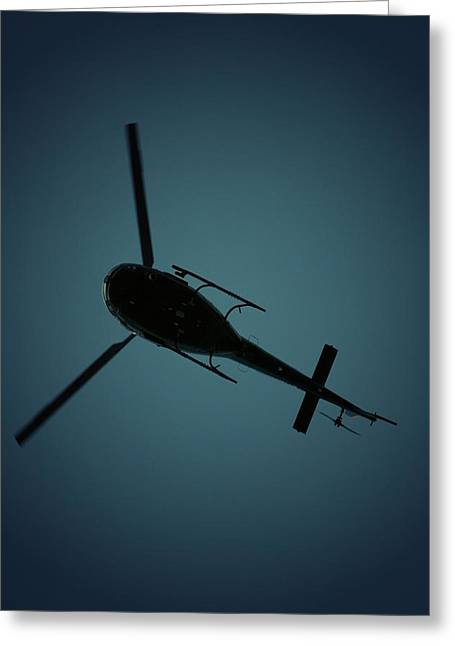 Helicopter Silhouette Greeting Card