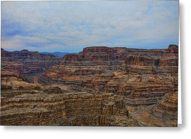 Helicopter View Of The Grand Canyon Greeting Card by Douglas Barnard