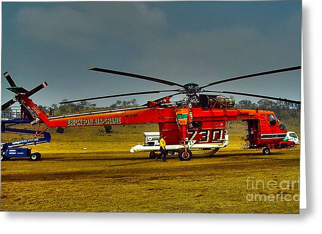 Helitanker Greeting Card by Joanne Kocwin
