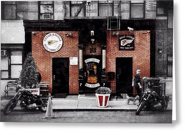 Hells Angels Nyc Greeting Card by Natasha Marco