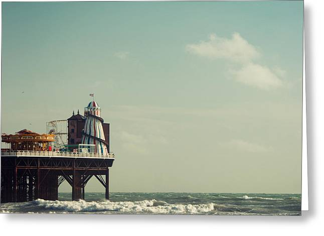 Helter-skelter On Brighton Pier  Greeting Card by Paul Grand