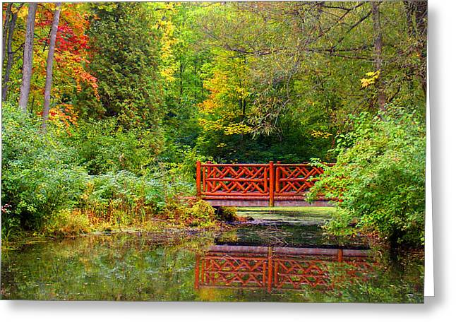 Henes Park Pond Bridge Greeting Card