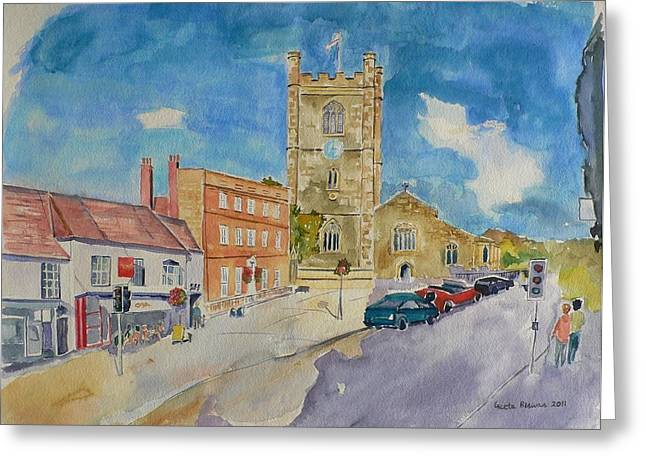 Greeting Card featuring the painting Henley On Thames by Geeta Biswas