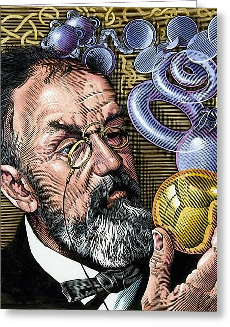 Henri Poincare, French Mathematician Greeting Card by Bill Sanderson