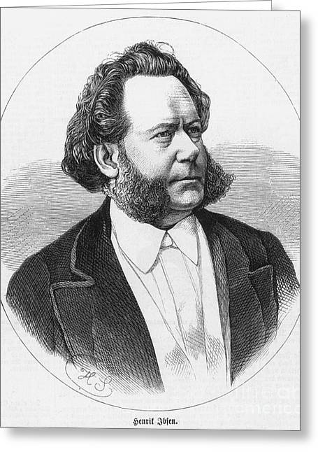Henrik Ibsen (1828-1906) Greeting Card by Granger