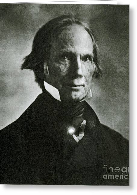 Henry Clay Sr., American Politician Greeting Card by Photo Researchers