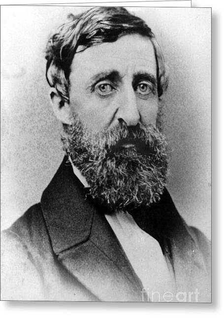 Henry David Thoreau, American Author Greeting Card by Photo Researchers