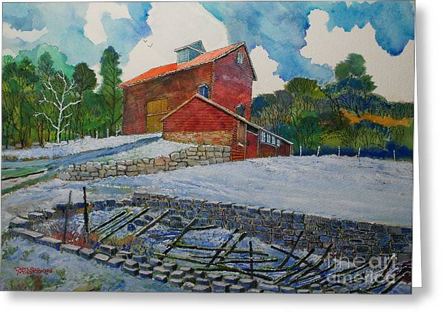 Henry Fowler Farm Greeting Card by Donald McGibbon