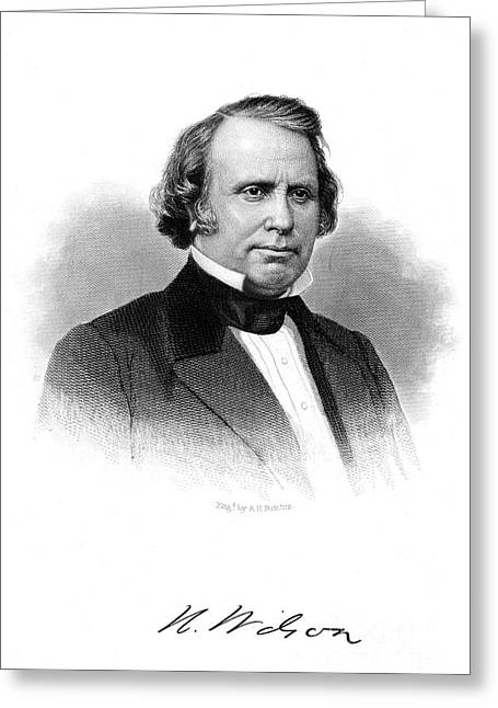 Henry Wilson (1812-1875) Greeting Card by Granger