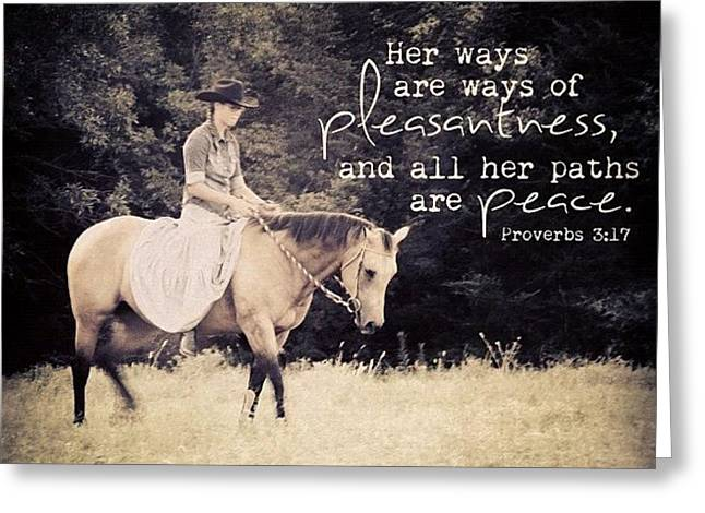 her Ways Are Ways Of Pleasantness Greeting Card