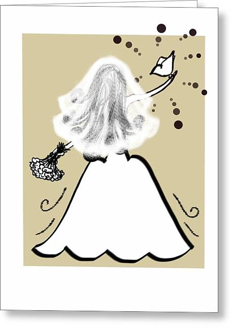 Her Wedding Day Greeting Card by Celestina Quick