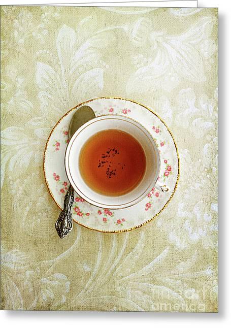 Herbal Tea Greeting Card by Stephanie Frey