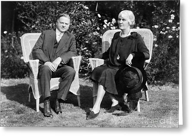 Herbert & Lou Hoover, 1929 Greeting Card by Granger