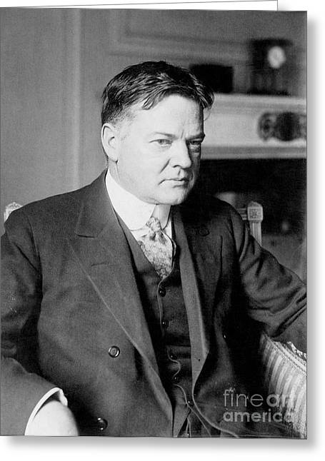 Herbert Clark Hoover Greeting Card by Granger