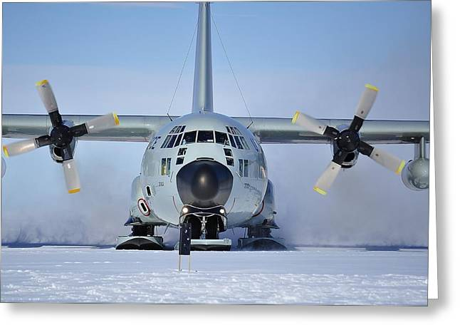 Hercules Lc130h Greeting Card by David Barringhaus