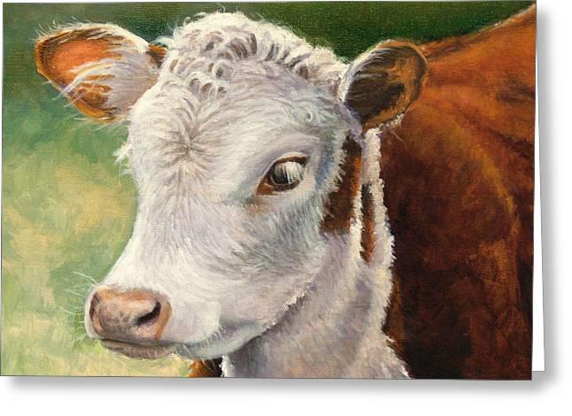 Herford Calf  Greeting Card