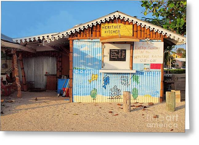 Heritage Kitchen Grand Cayman Greeting Card by James Brooker
