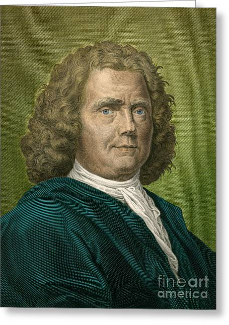 Herman Boerhaave, Dutch Physician Greeting Card by Science Source