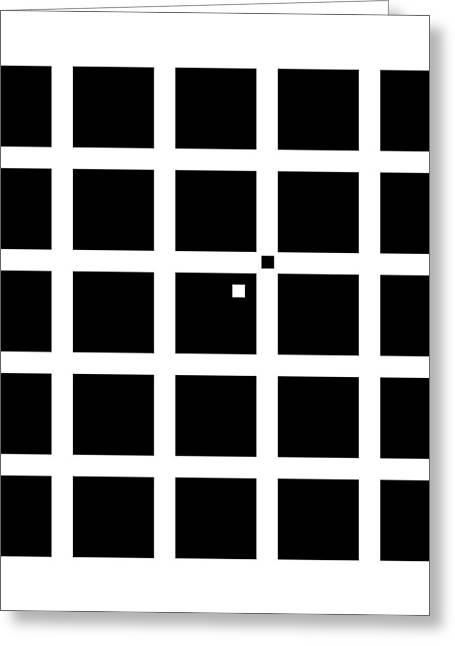 Hermann-hering Illusion Greeting Card by