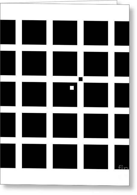 Hermann-hering Illusion Greeting Card