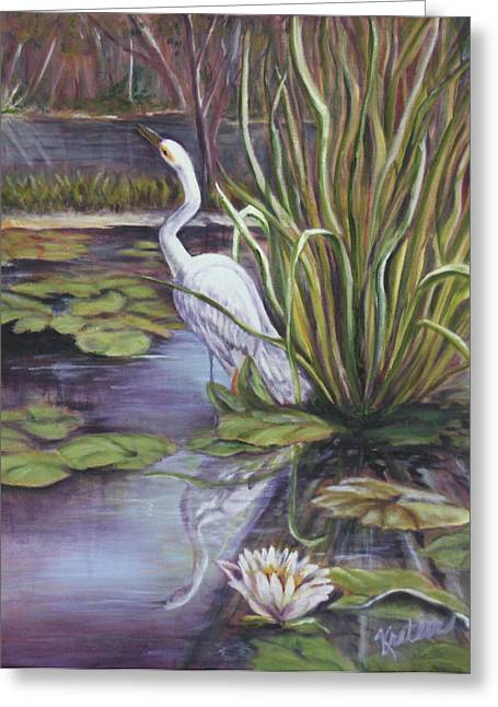 Heron Standing Watch Greeting Card