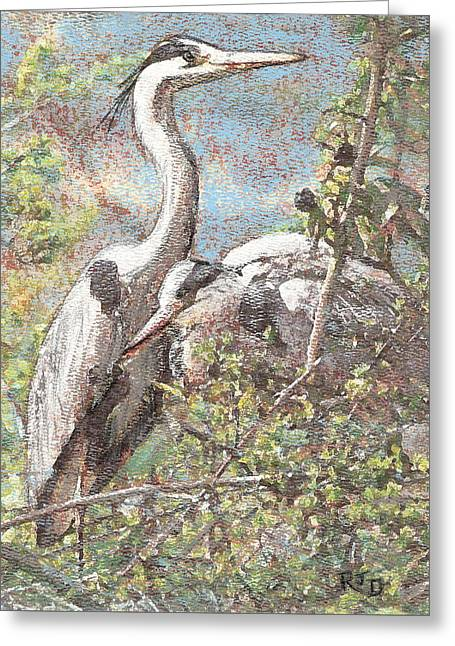 Herons Resting Greeting Card