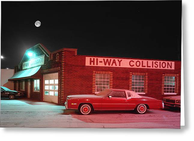 Hi-way Collision Greeting Card by James Rasmusson
