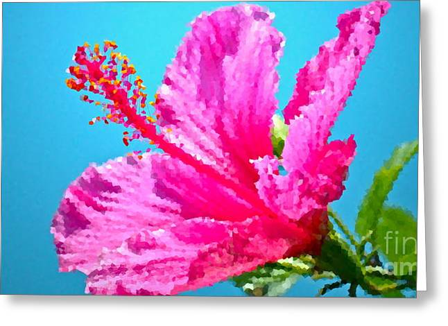 Hibiscus Crystal Luster Greeting Card