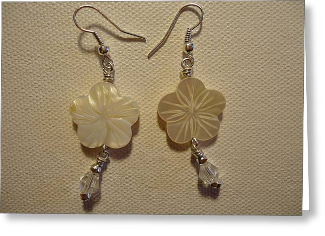 Hibiscus Hawaii Flower Earrings Greeting Card