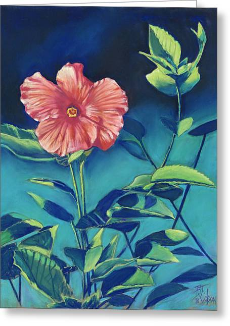 Hibisicus Greeting Card by Billie Colson