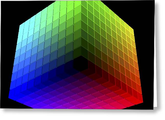Hickethier Colour-cube,computer Artwork Greeting Card