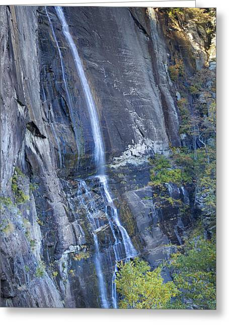 Hickory Nut Falls Chimney Rock State Park Greeting Card by Dustin K Ryan