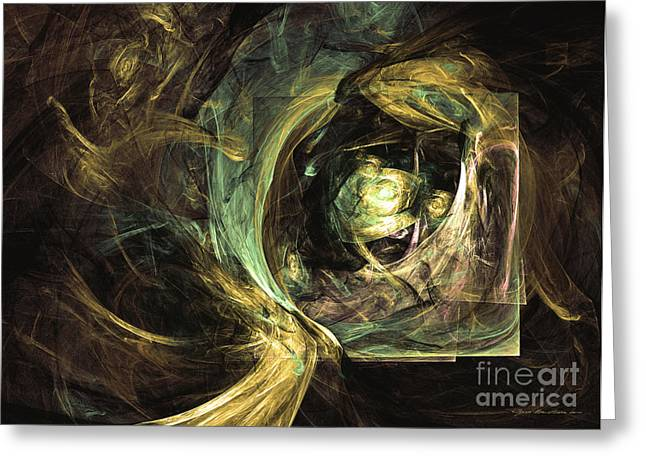 Hidden From Time Immemorial - Abstract Art Greeting Card