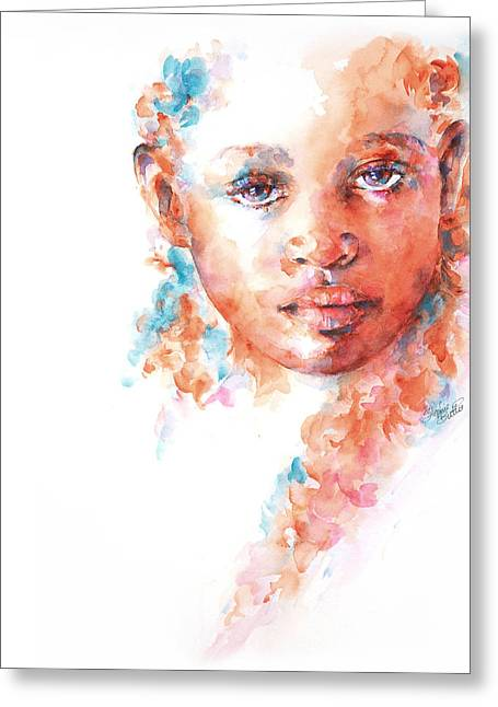 Hidden Tears Greeting Card by Stephie Butler
