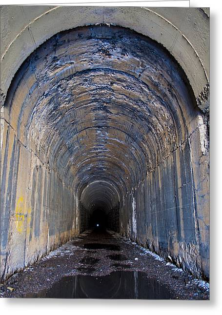 Hidden Tunnel Greeting Card by Fran Riley
