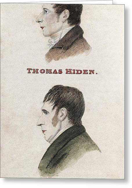 Hiden And Adams, British Conspirators Greeting Card by Middle Temple Library