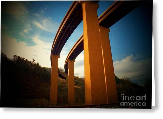 High Bridge Greeting Card by Joyce Kimble Smith