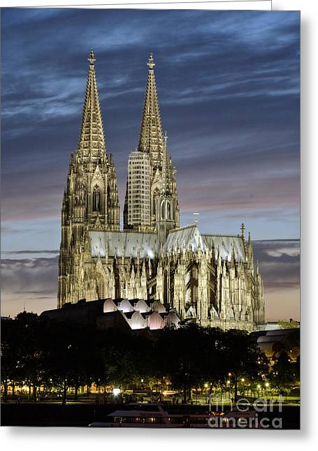 High Cathedral Of Sts. Peter And Mary In Cologne Greeting Card by Heiko Koehrer-Wagner