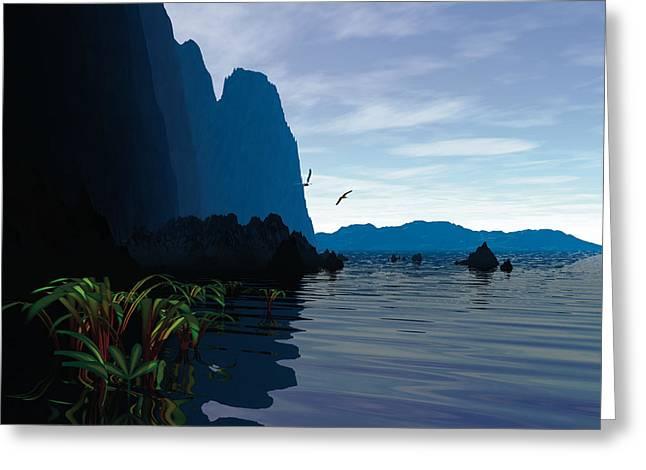 High Cliffs Morning Greeting Card