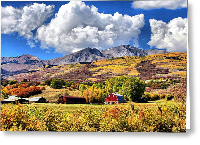 Greeting Card featuring the digital art High Country Living by Brian Davis